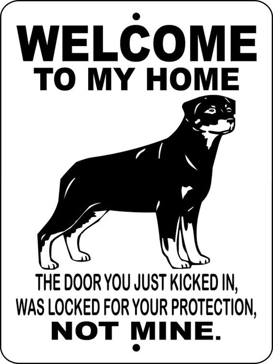 rottweiler sign security
