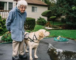 92-year-old veteran feels lonely and refuses to leave the house. Then she meets this service dog