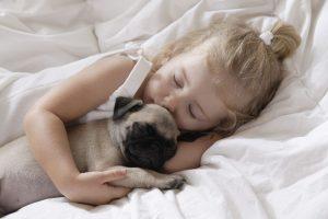 girl-sleeping-with-pug-puppy