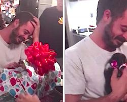 Depressed Marine's Family Hands Him Special Gift, When He Sees What's Inside, He Loses It.