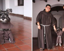 Rescue Dog Becomes Monastery's Furriest Little Friar