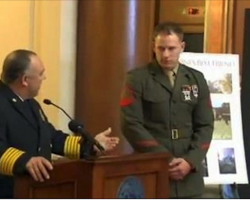 Marine Was Being Honored At A Ceremony – But Then He Looks Down And Gets The Surprise Of His Life