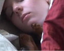 [Video] Woman Gets Woken Up In The Most Adorably Gentle Way By Her Dog