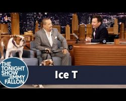 Ice T Brings His Bulldogs to The Tonight Show with Jimmy Fallon.. and it's Thugnificient!