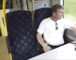 He Gets On The Train To Work Like He Always Does – Now Watch Who Sits Down Next To Him Today