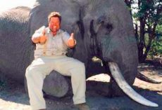Jimmy John's CEO Exposed As Trophy Hunter, Gives Thumbs Up After Killing Elephant