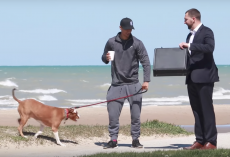 Man In Suit Offers $100,000 To Strangers For Their Dogs In Social Experiment