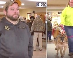 Army Veteran Nervously Awaits Reunion With Military Dog, Moment Caught On Live TV