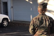 Army Mom Returns Home And Waits By The Door Calling For Her Dog