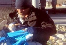 Homeless Man Saw A Pup Get Thrown Out Of Car And Went Out Of Way To Save Him