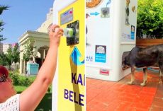 Recycling A Bottle In This Dispenser Will Feed A Homeless Dog