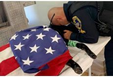 Cop Says Goodbye To K9 Partner Who Succumbed To Heat Exhaustion In Line of Duty