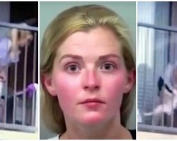 Woman Caught Swinging Spaniel By Her Neck & Choking Her On Balcony