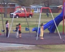 Mom Was Filming Her Kids Playing, When All The Kids Stop And Freeze All At Once