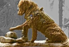 New Sculpture Pays Tribute To Military Working Dogs