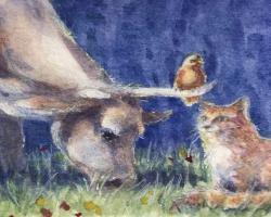 A Cow, A Cat & A Bird